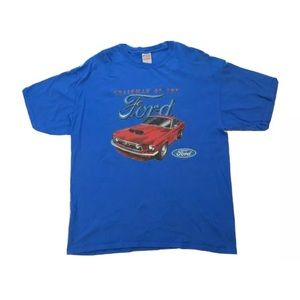 Chairman of the Ford Mustang T Shirt Blue